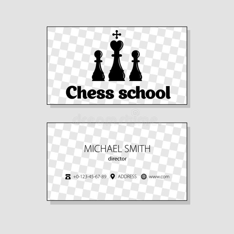 最佳的名片原来的打印准备好的模板向量 棋象 库存例证