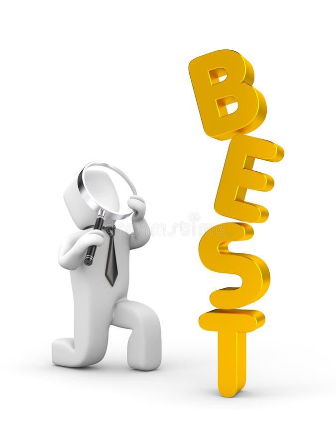 最佳的商人和的词 向量例证