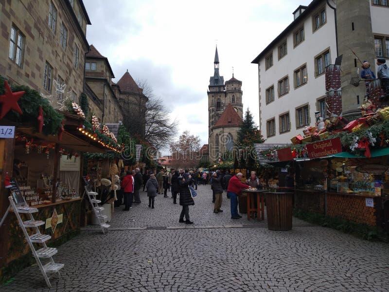 最佳的圣诞节市场在德国斯图加特 免版税库存照片