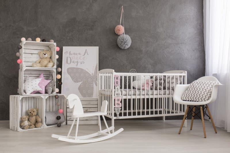 最佳的女婴室想法 库存照片