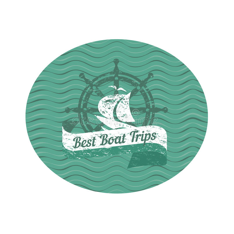 最佳的小船旅行 皇族释放例证