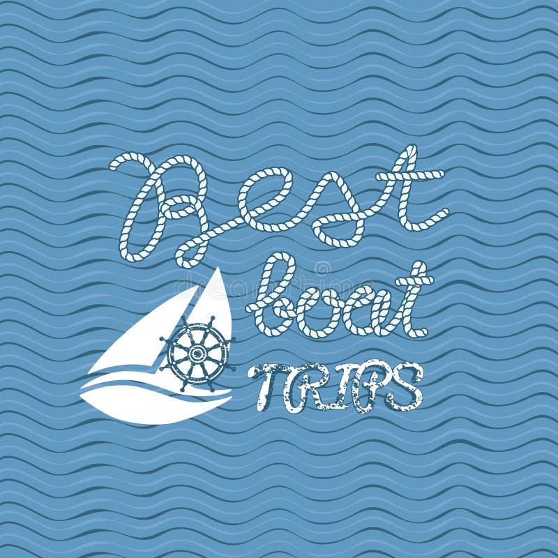 最佳的小船旅行 库存例证