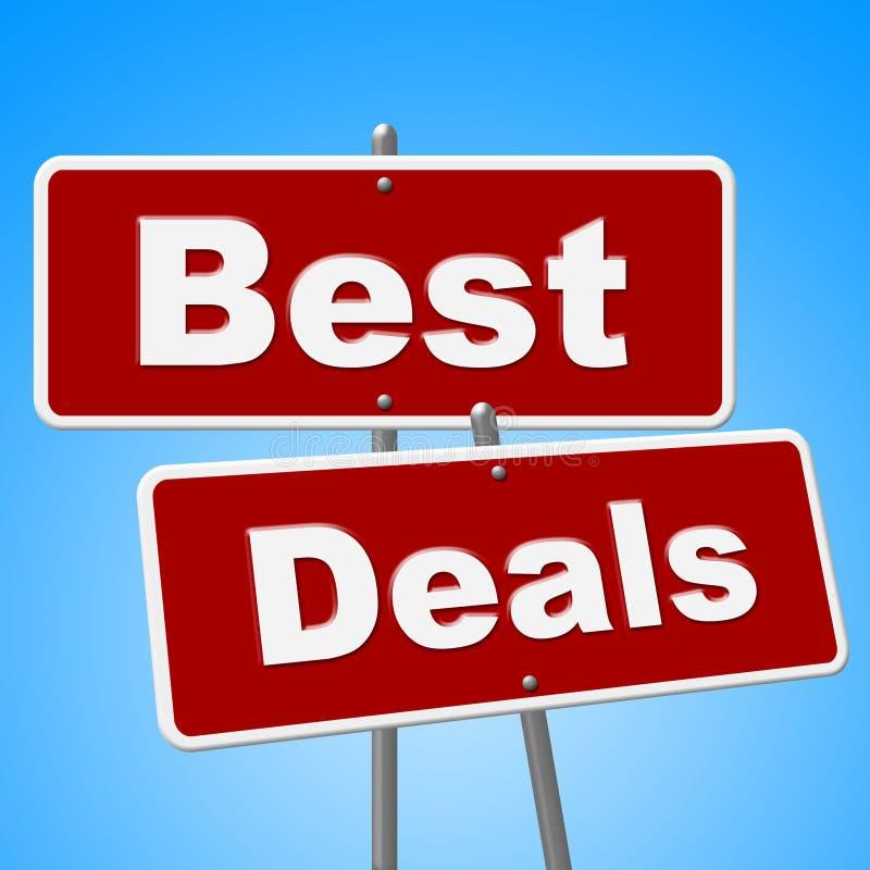 最佳的成交签署展示便宜的促进和销售 皇族释放例证
