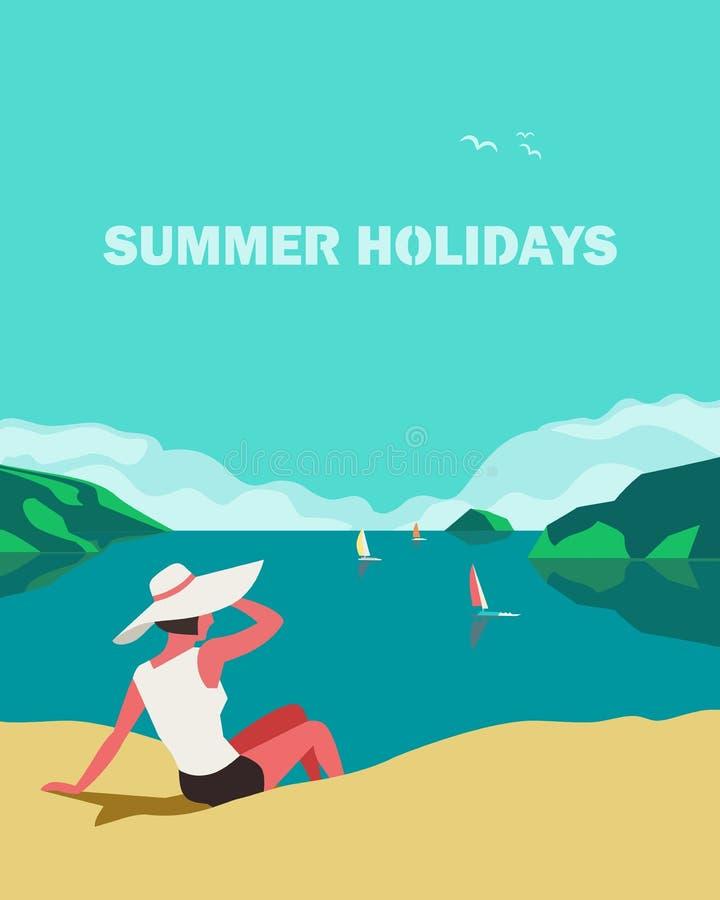 最佳的暑假 向量例证