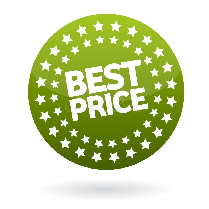 最佳的查出的标签价格界面 向量例证