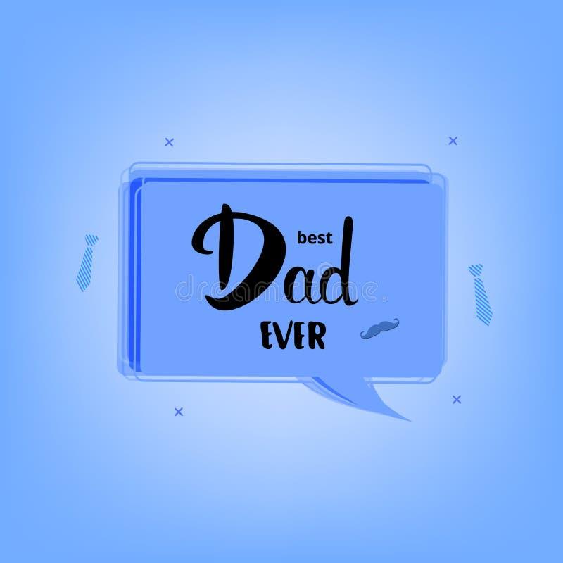 最佳的爸爸卡片 也corel凹道例证向量 库存例证