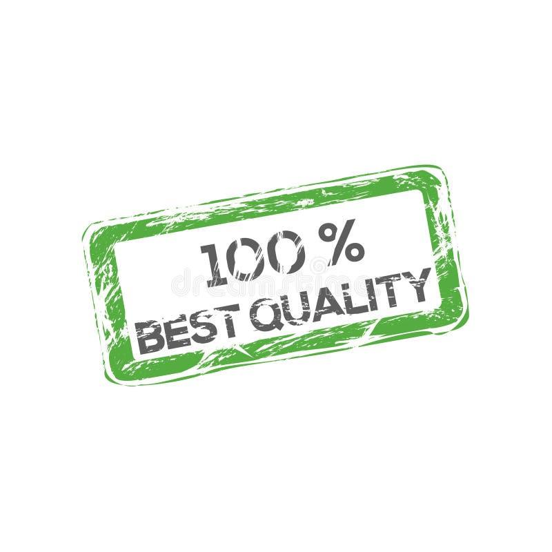 最佳的质量标志 有机食品传染媒介商标 农厂新商标 当地增长的100% 库存例证