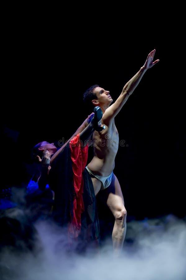 最佳的运货马车的车夫跳舞戏曲佛拉&# 图库摄影