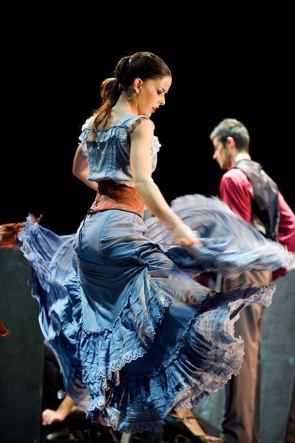 最佳的运货马车的车夫跳舞戏曲佛拉&# 免版税图库摄影