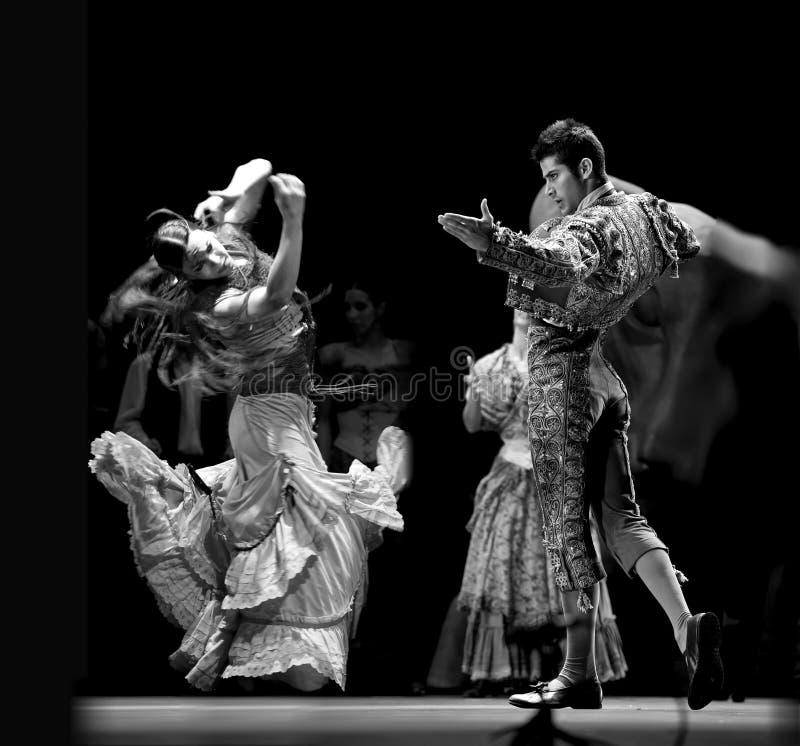 最佳的运货马车的车夫跳舞戏曲佛拉&# 免版税库存图片