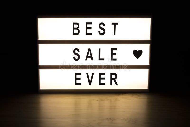 最佳的销售灯箱标志板 库存图片