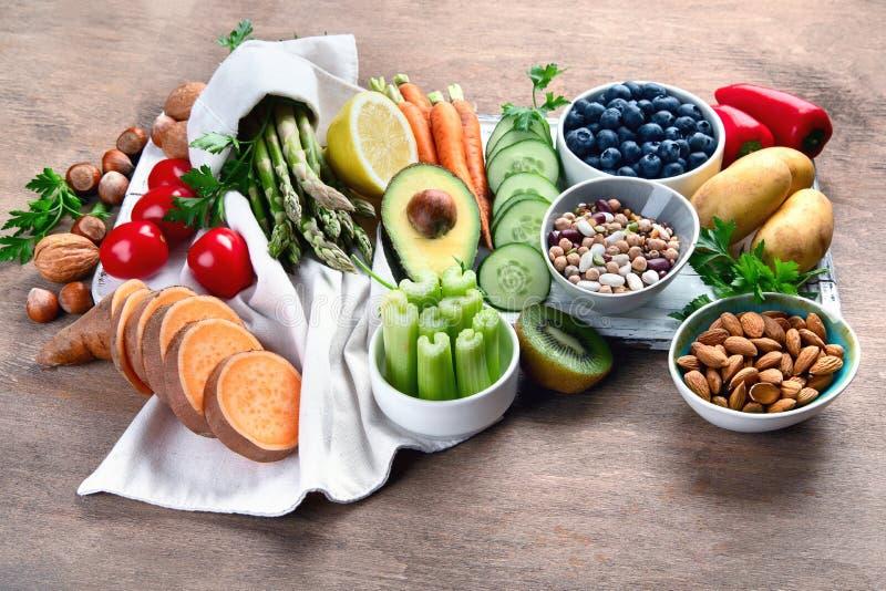 最佳的高碱性食物 免版税库存照片