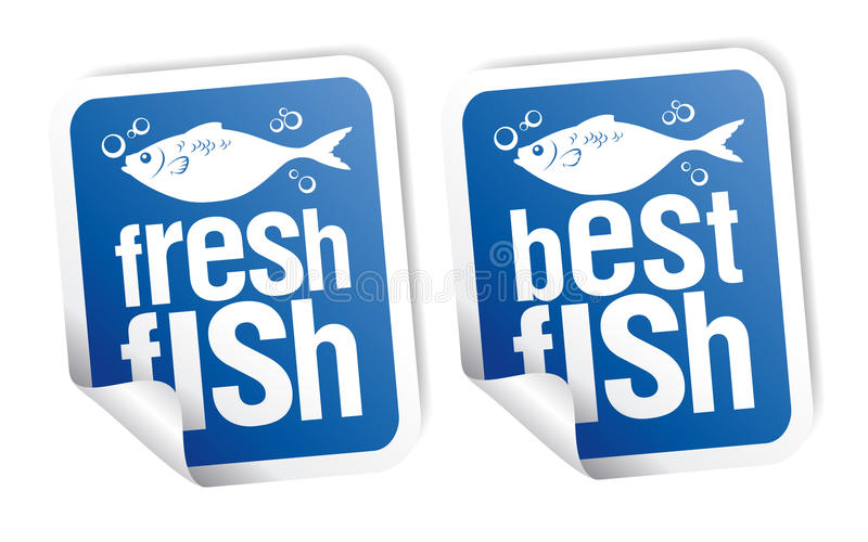 最佳的鱼贴纸 向量例证