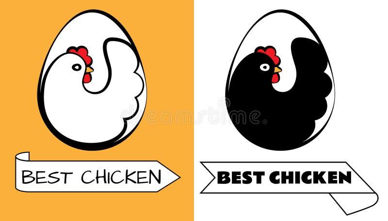 最佳的鸡商标 库存例证