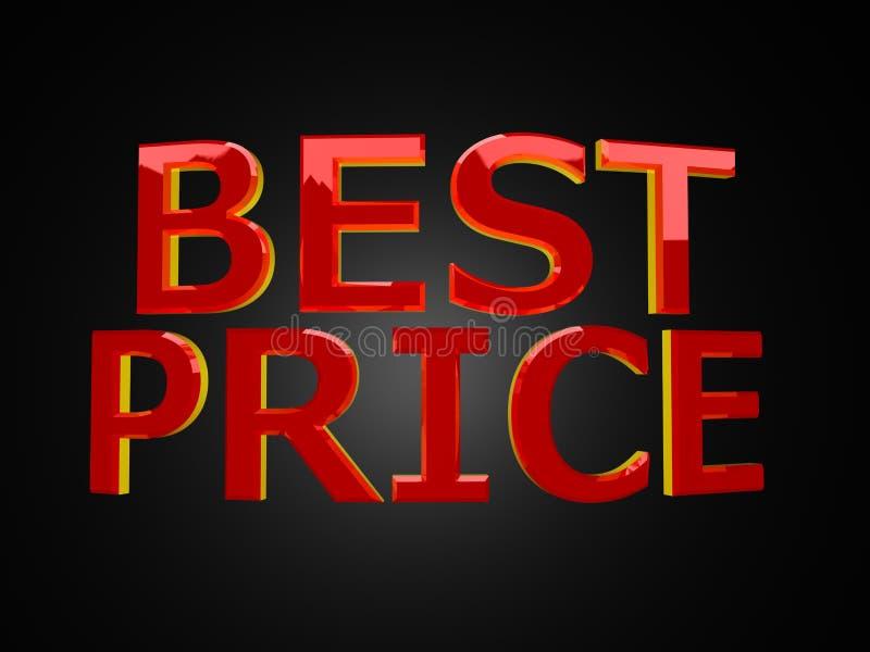 最佳的黑色价格 库存例证