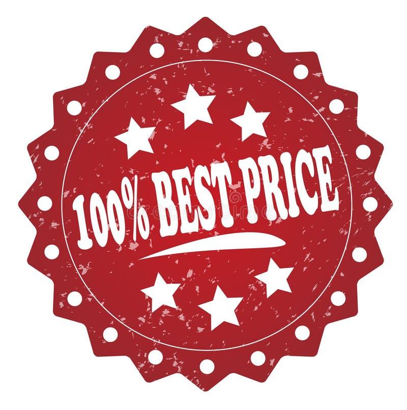 100%最佳的价格难看的东西邮票 向量例证