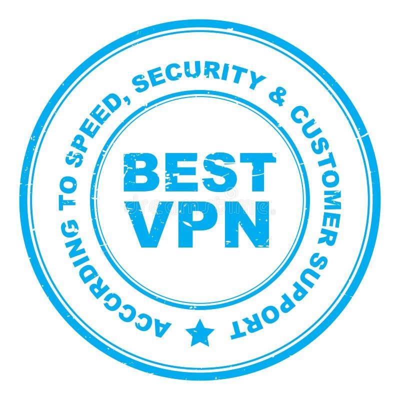 最佳的VPN邮票 库存例证