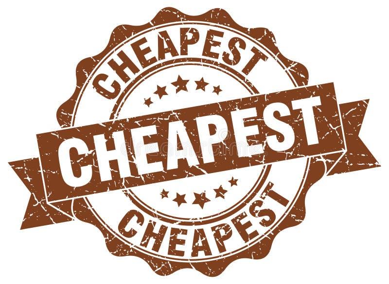 最便宜的封印 向量例证