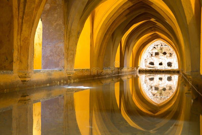 最保存良好的摩尔人宫殿的Aljaferia一在城市佐良 免版税库存照片