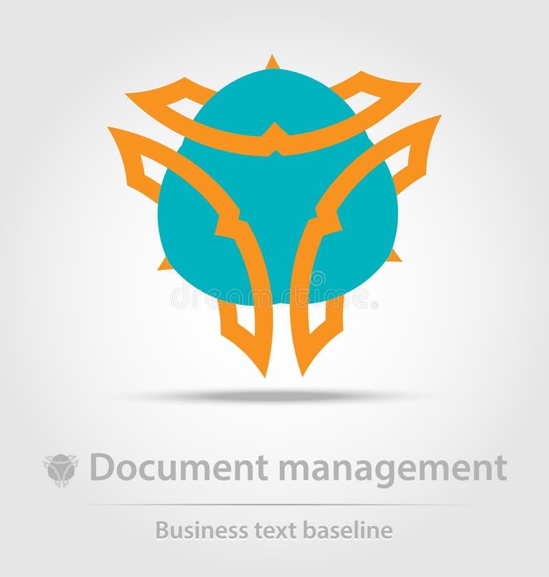 最初创造了文件管理企业象 库存例证