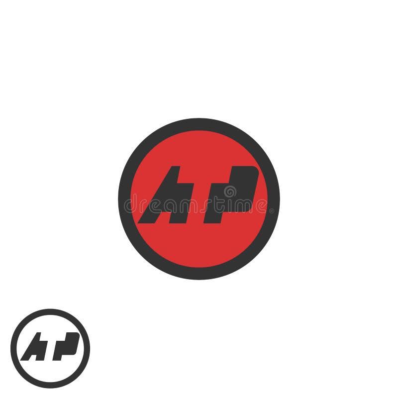 最初ATP商标消极空间烙记圆的象征名片,技术身分象的T P信件媒介 向量例证