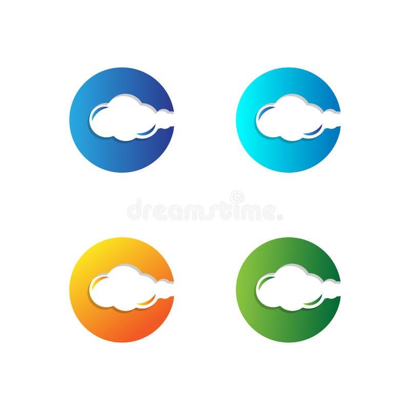 最初C抽象商标模板传染媒介例证和启发 库存例证