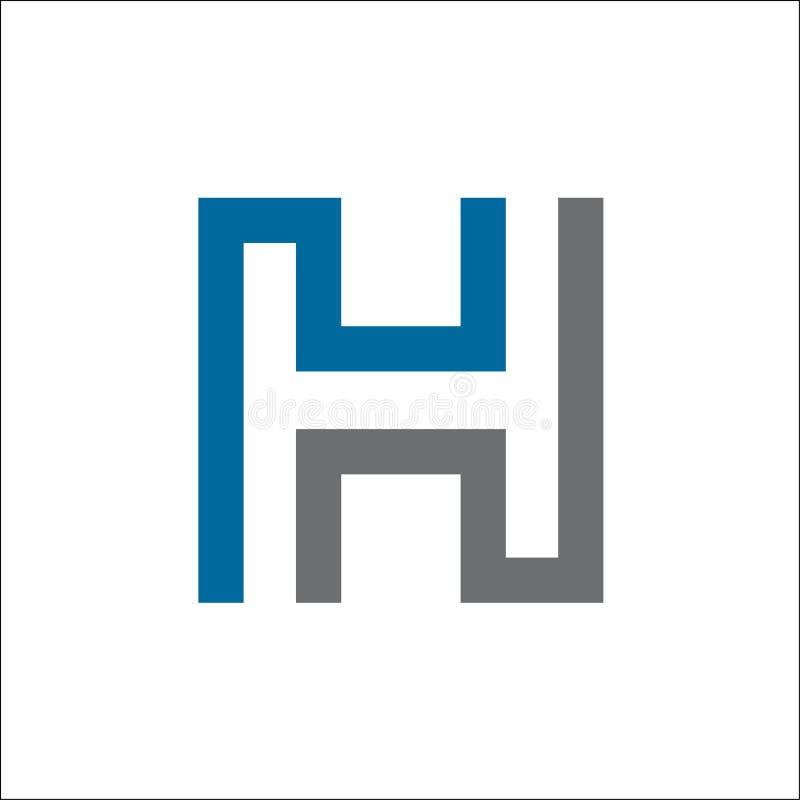 最初H抽象商标传染媒介模板 皇族释放例证