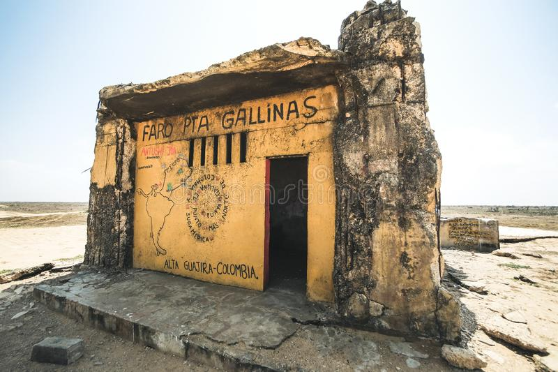 最北的问题的哥伦比亚和拉丁美洲,法鲁蓬塔伽利纳 库存照片