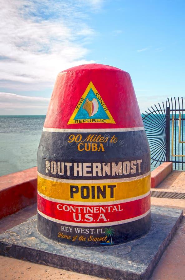 最南端的点标志 免版税图库摄影