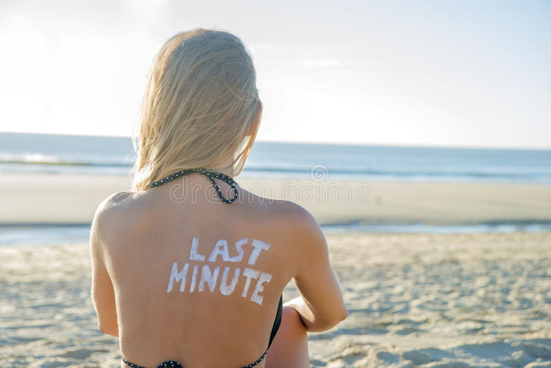 最后一刻的女孩 免版税图库摄影