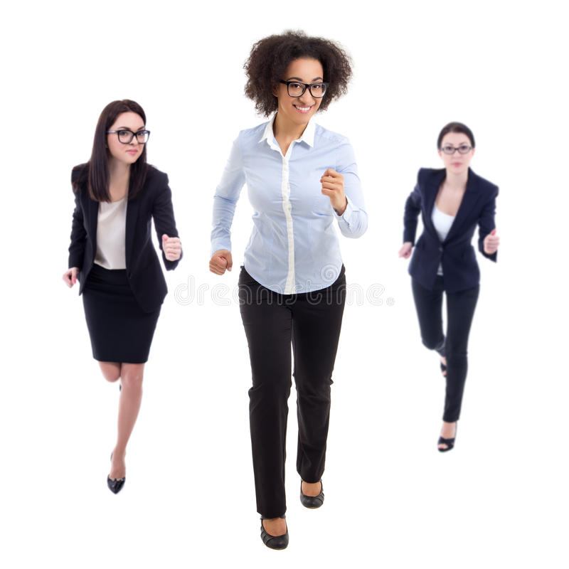 Download 最后期限概念-连续女商人正面图被隔绝 库存图片. 图片 包括有 女性, 事业, 概念, 脚跟, 繁忙, 愉快 - 72366087