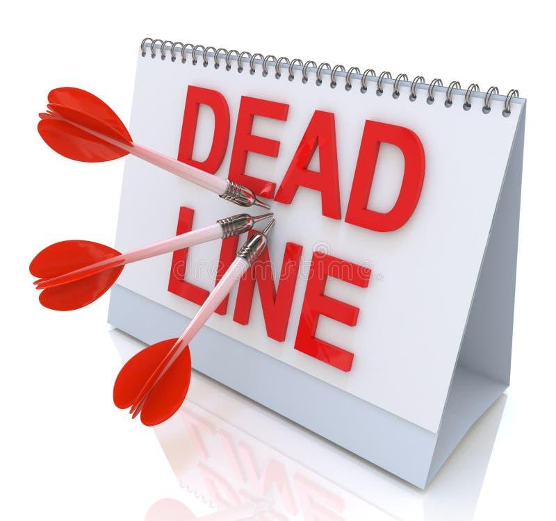最后期限的日历 向量例证