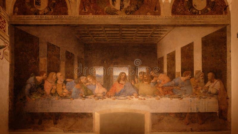 最后的晚餐列奥纳多・达・芬奇 免版税库存图片