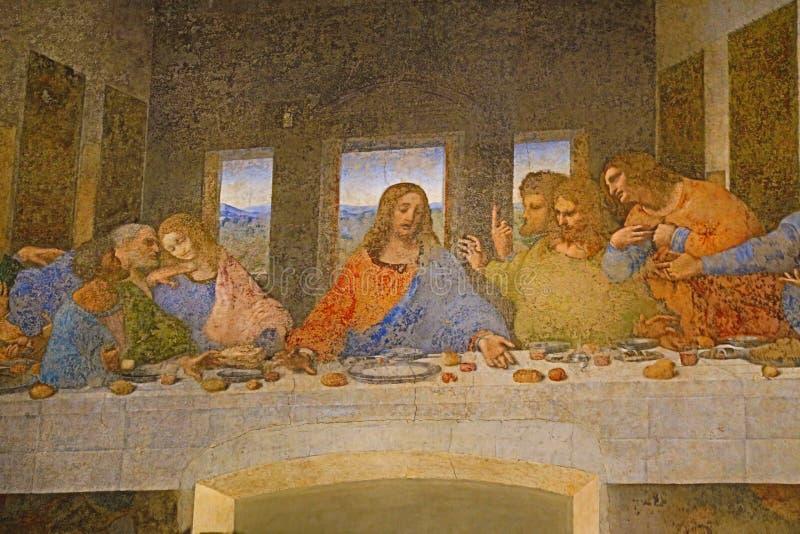 最后的晚餐绘画 免版税库存图片