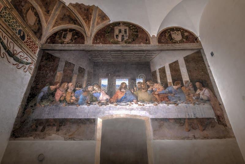 最后的晚餐-米兰,意大利 库存图片