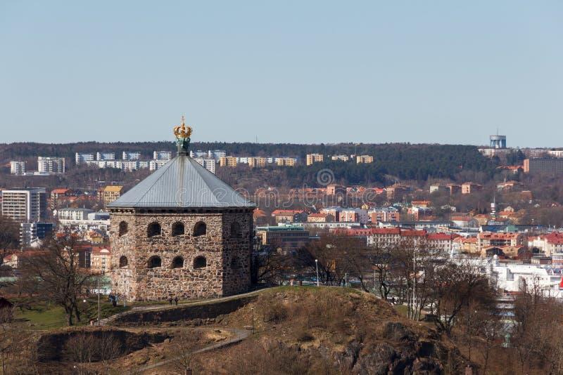 最后阵地Skansen Kronan在哥特人,瑞典 库存照片