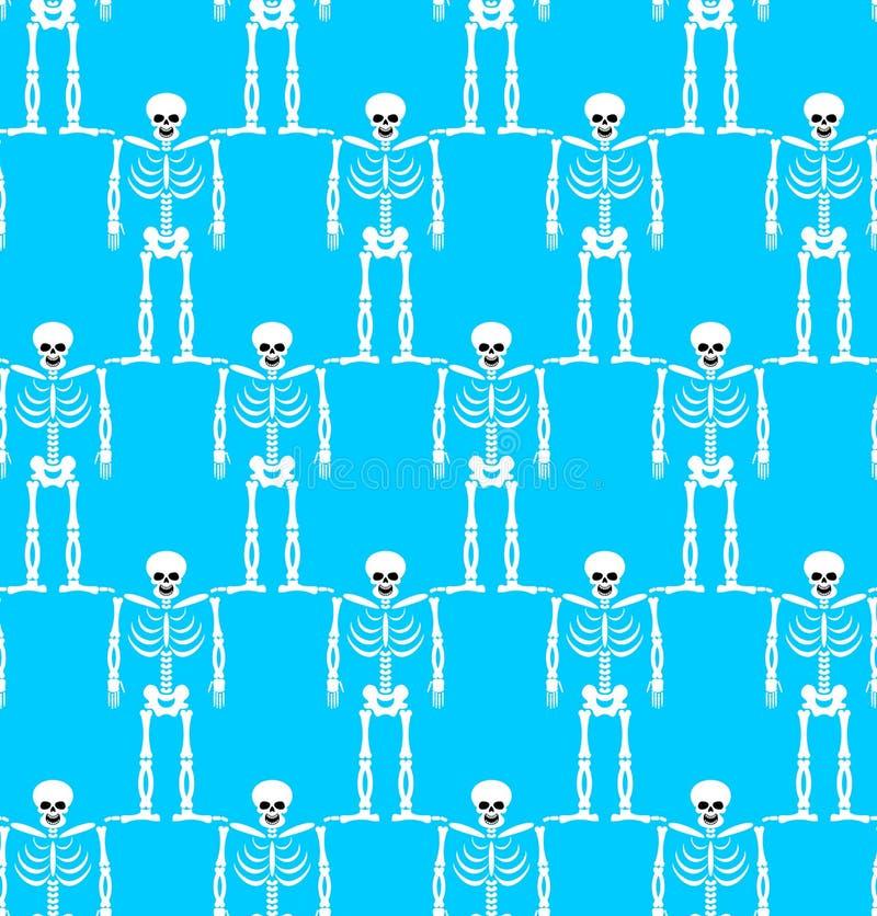最基本的无缝的样式 骨头和头骨装饰品 装饰品  向量例证
