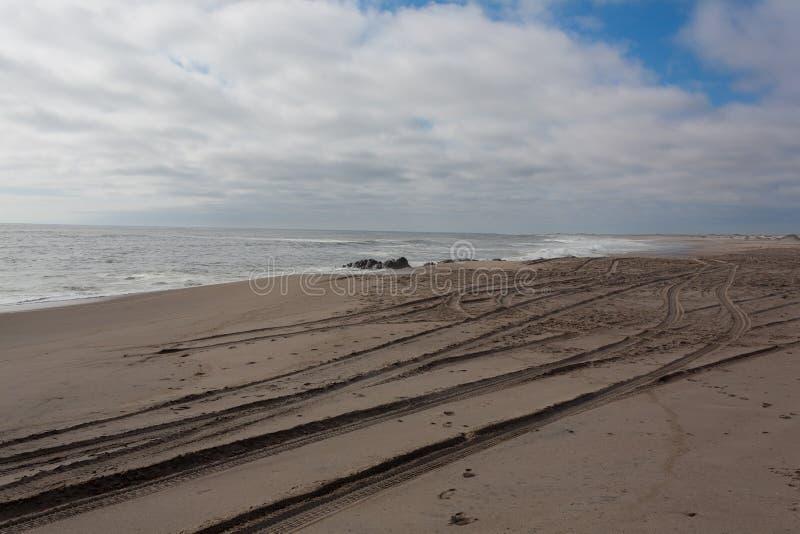 最基本的海岸全景 库存图片