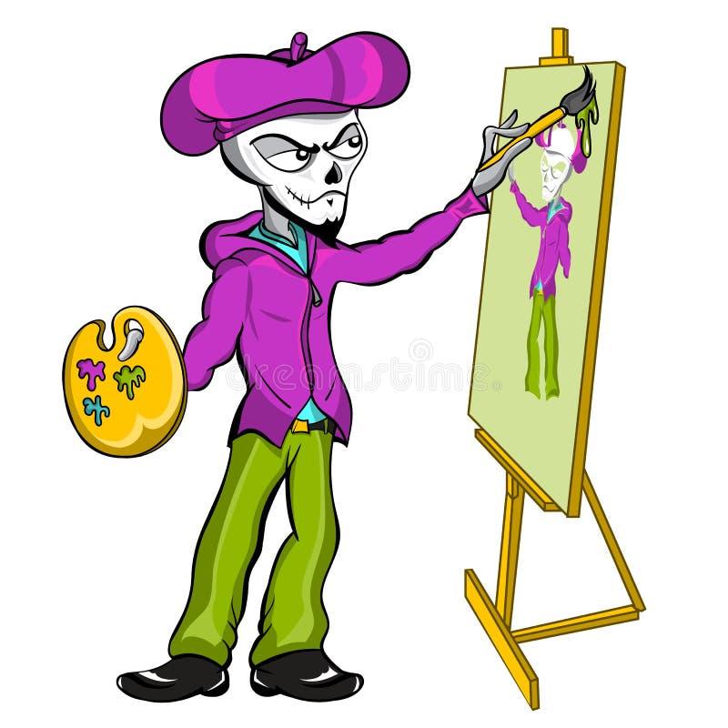 最基本的艺术家绘画 免版税库存照片