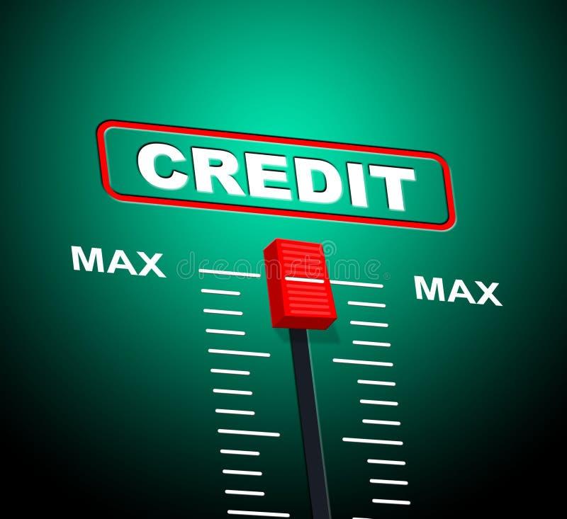 最大信用意味转账卡和银行卡 库存例证