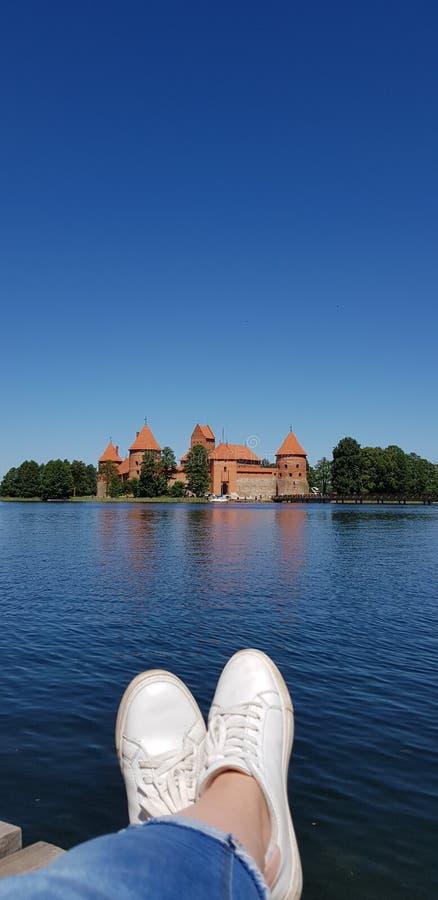 最大的城堡在立陶宛 免版税库存照片