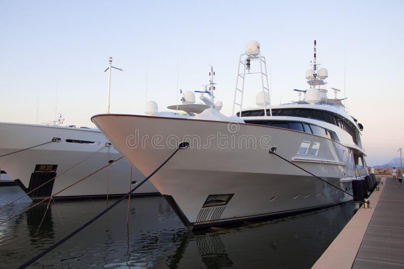 最大的游艇 库存图片