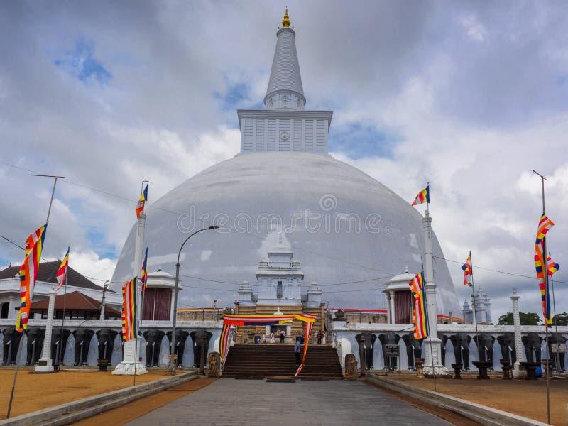 最大的stupa在阿努拉德普勒, Sri隆奥 库存图片