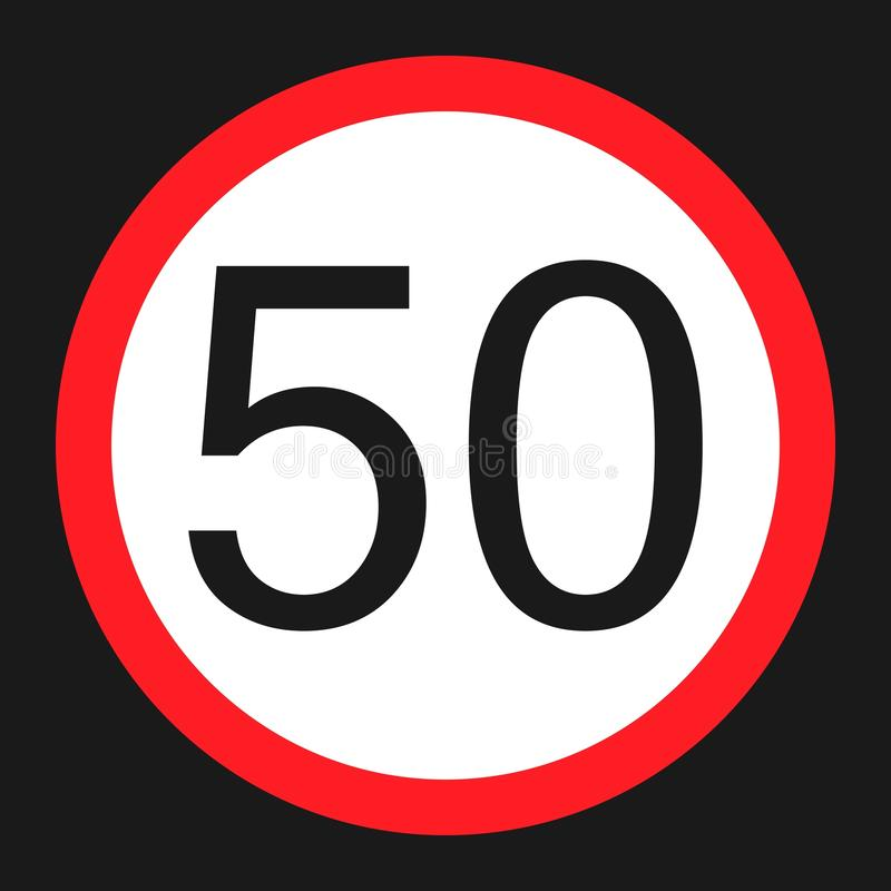 最大速度极限50平的象 向量例证