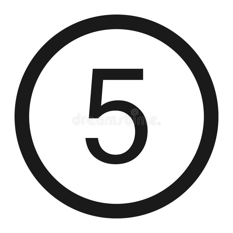 最大速度极限5标志线象 库存例证