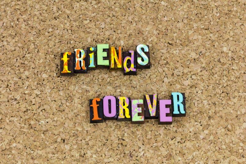 最好的朋友永远友谊庆祝 库存图片
