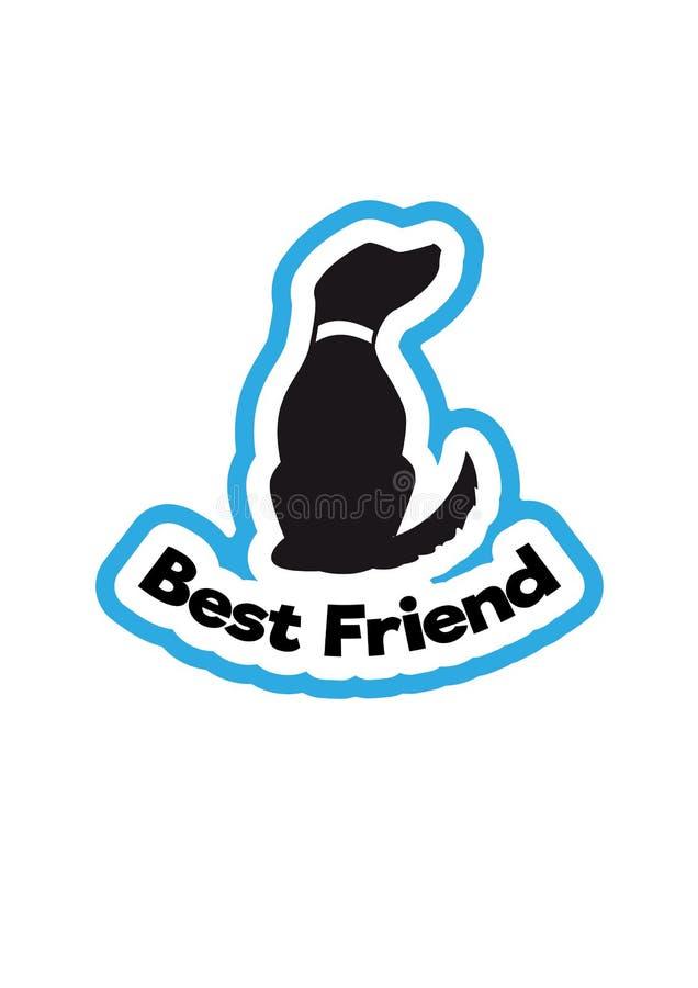 最好的朋友狗标志 皇族释放例证