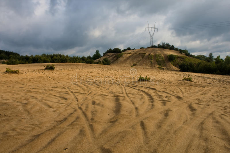 最小值波兰沙子 库存图片