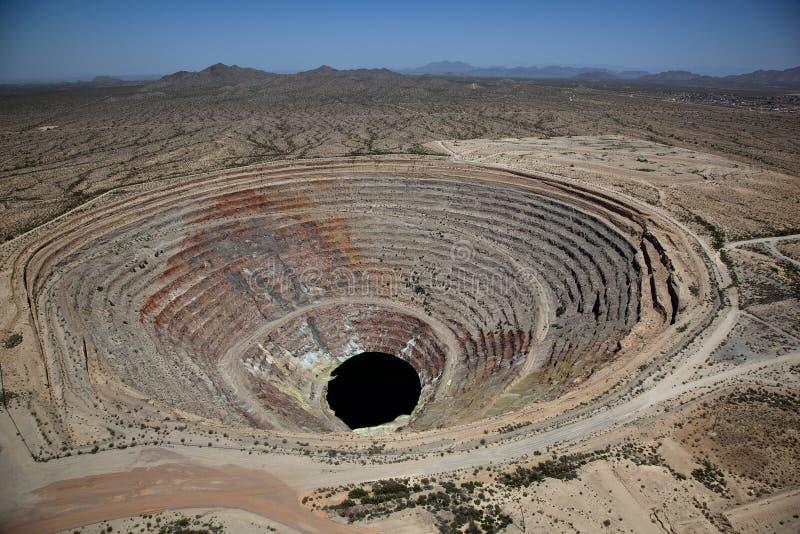 最小值露天开采矿 库存图片