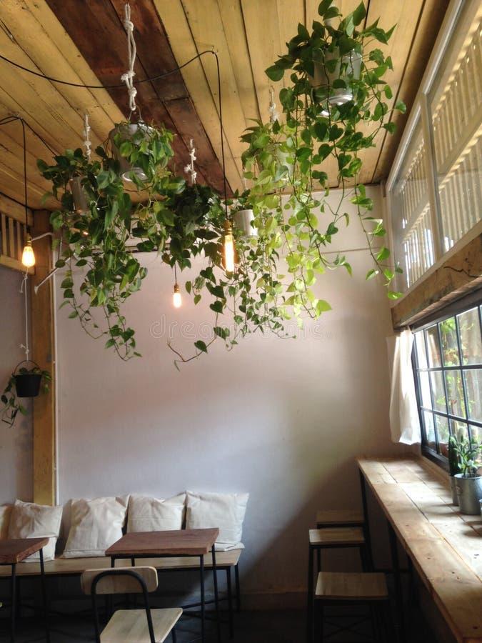 最小咖啡的cafe 免版税库存照片